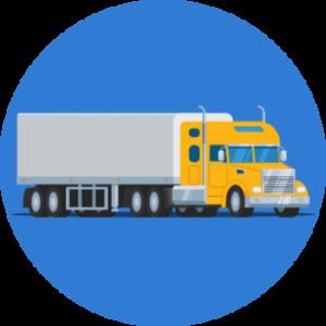 Yellow Semi Truck Icon