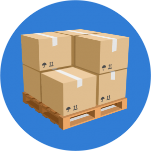 Freight On A Wooden Pallet Icon
